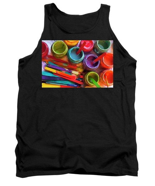 Popsicle Stick Paint Tank Top