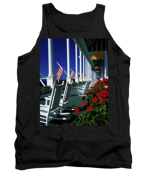 Porch Of The Grand Hotel, Mackinac Tank Top