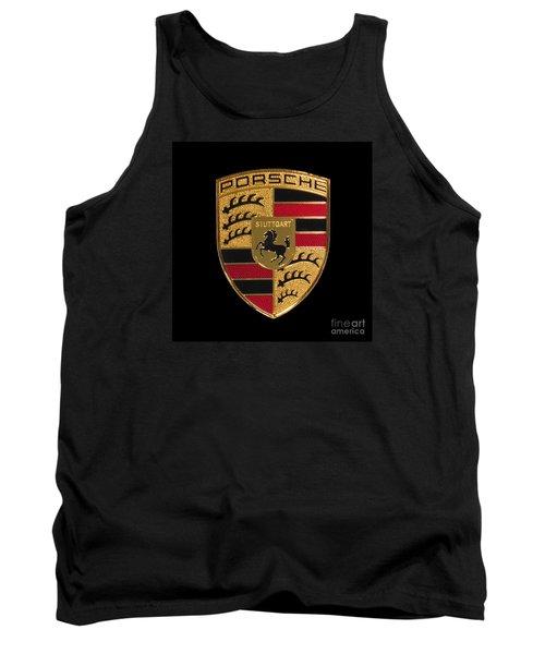 Porsche Emblem - Black Tank Top