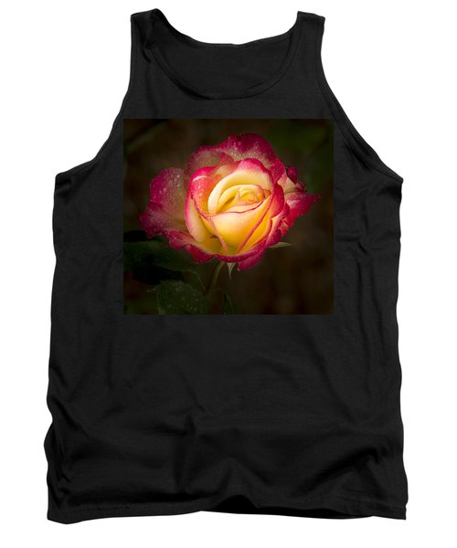Portrait Of A Double Delight Rose Tank Top by Jean Noren