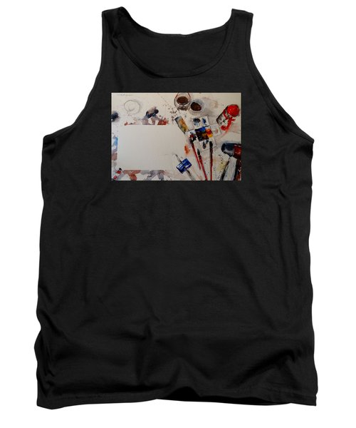 Tank Top featuring the painting Portrait Of A Master by Sandra Strohschein