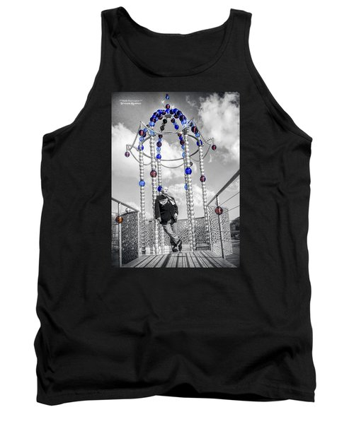 Tank Top featuring the photograph Portrait Of A Troubled Grandpa by Stwayne Keubrick