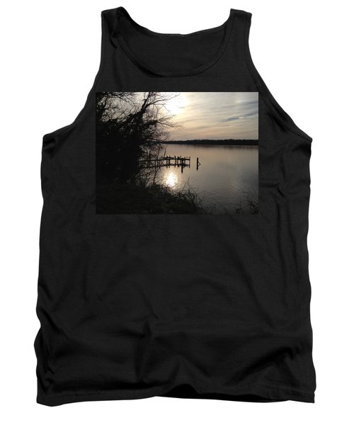 Tank Top featuring the photograph Potomac Reflective by Charles Kraus