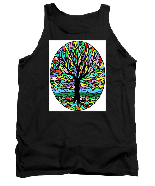 Prayer Tree Tank Top by Jim Harris