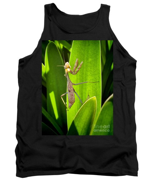 Tank Top featuring the photograph Praying Mantis by Kasia Bitner