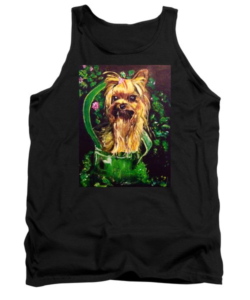 Tank Top featuring the painting Pretty Bambi by Belinda Low