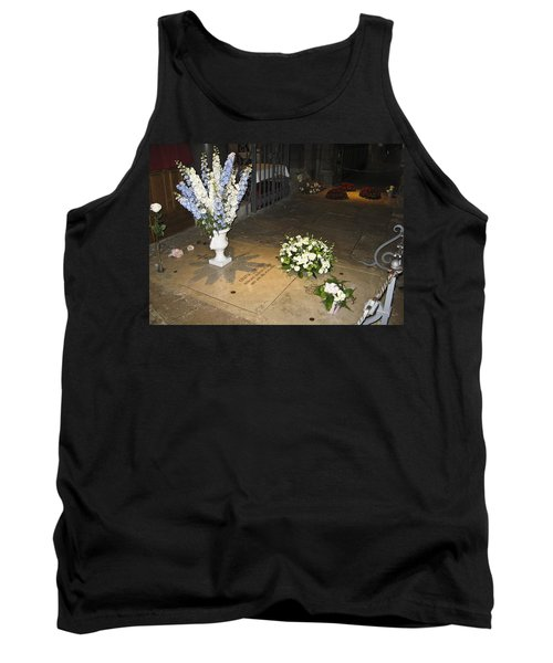 Tank Top featuring the photograph Princess Grace Tomb by Allen Sheffield