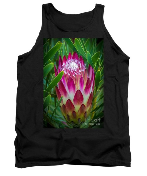 Protea In Pink Tank Top