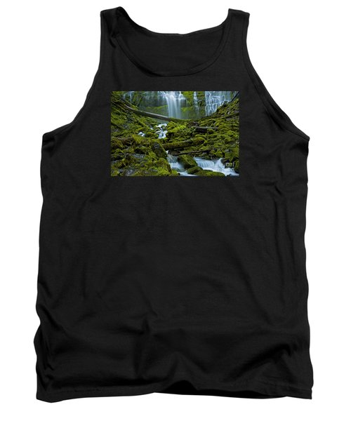 Tank Top featuring the photograph Proxy Falls by Nick  Boren