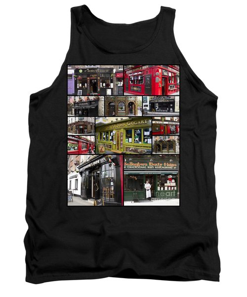Pubs Of Dublin Tank Top by David Smith