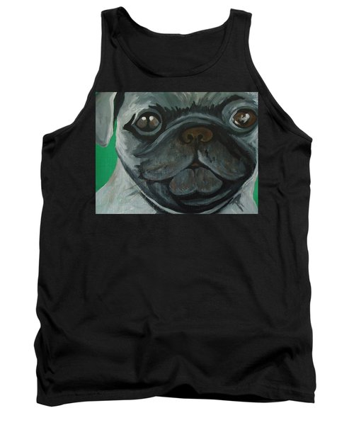Tank Top featuring the painting PUG by Leslie Manley