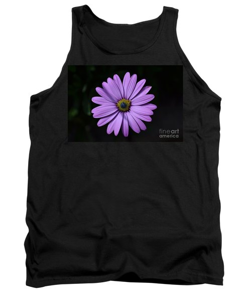 Purple African Daisy Tank Top