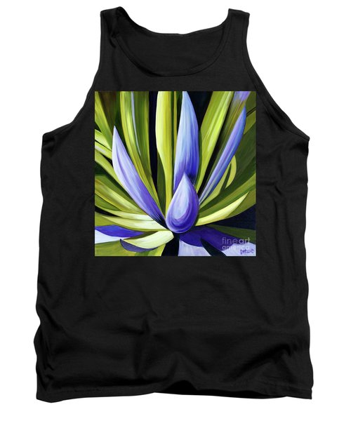 Tank Top featuring the painting Purple Cactus by Debbie Hart