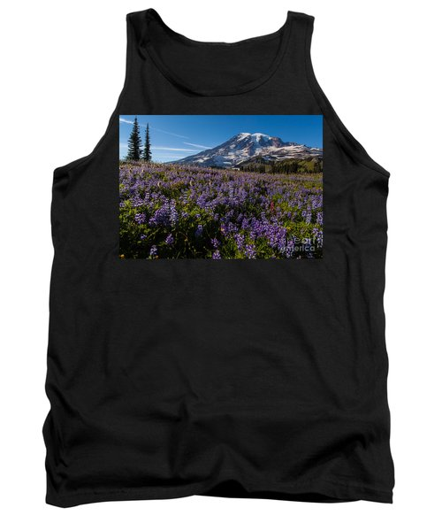 Purple Fields Forever And Ever Tank Top by Mike Reid