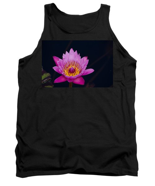 Purple Lotus Flower Tank Top