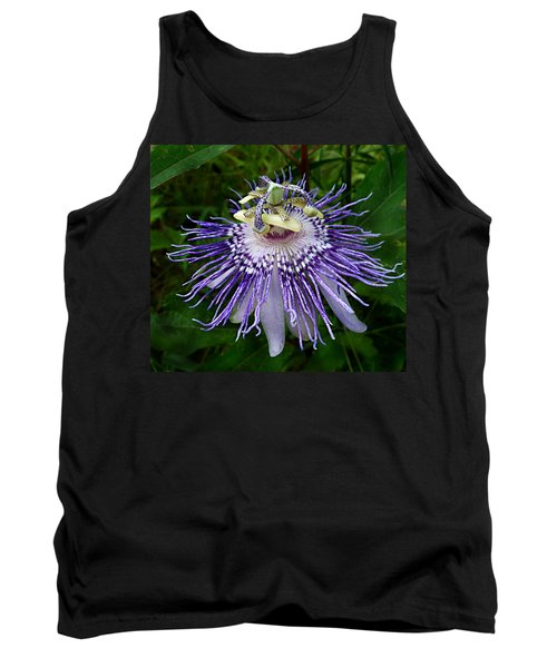 Purple Passionflower Tank Top