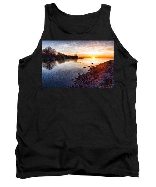 Purple Rocks Sunrise - Lake Ontario Impressions Tank Top