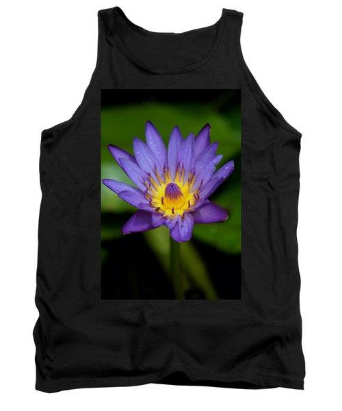 Purple Water Lily Tank Top by Pamela Walton