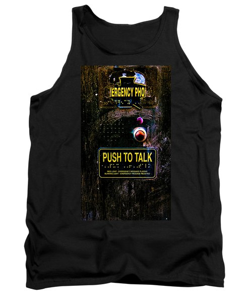 Push To Talk Tank Top