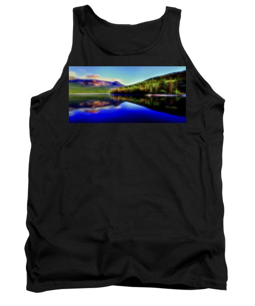 Tank Top featuring the digital art Pyramid Mirror 1 by William Horden
