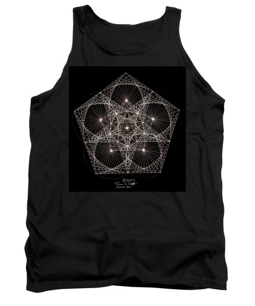 Tank Top featuring the drawing Quantum Star II by Jason Padgett