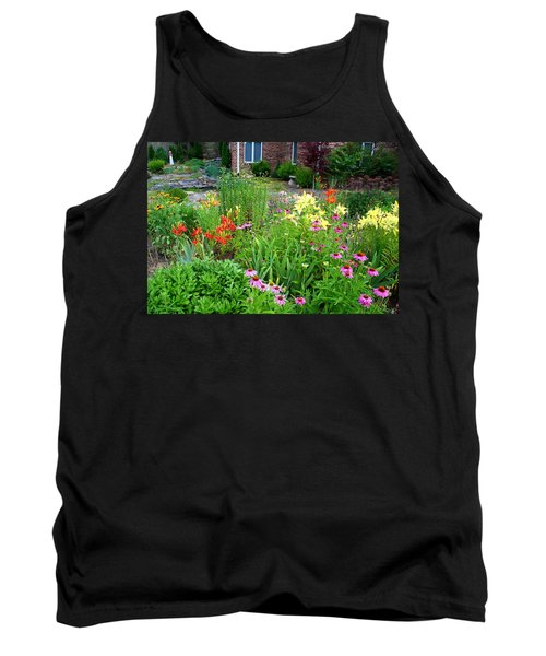 Tank Top featuring the photograph Quarter Circle Garden by Kathryn Meyer