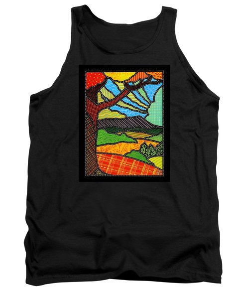 Quilted Bright Harvest Tank Top by Jim Harris