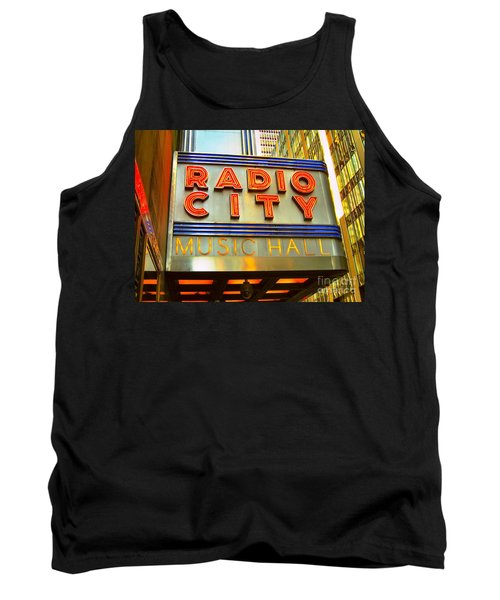 Tank Top featuring the photograph Radio City Music Hall by Judy Palkimas