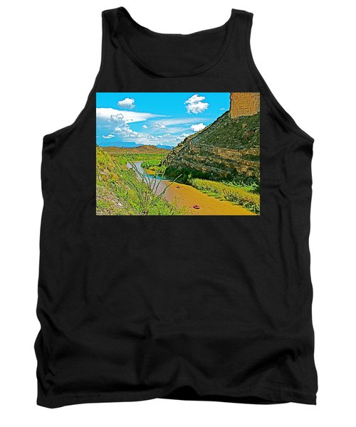 Rafting In Santa Elena Canyon In Big Bend National Park-texas Tank Top by Ruth Hager