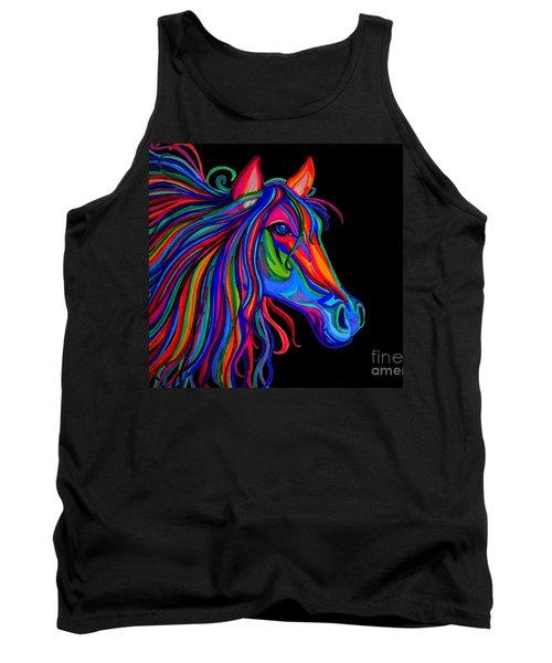 Rainbow Horse Head Tank Top by Nick Gustafson