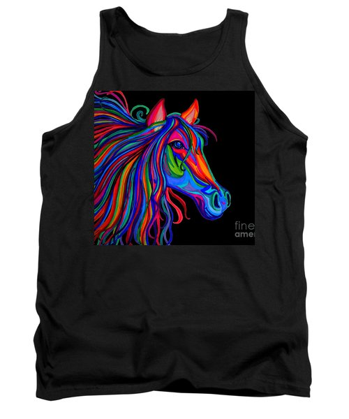 Rainbow Horse Head Tank Top