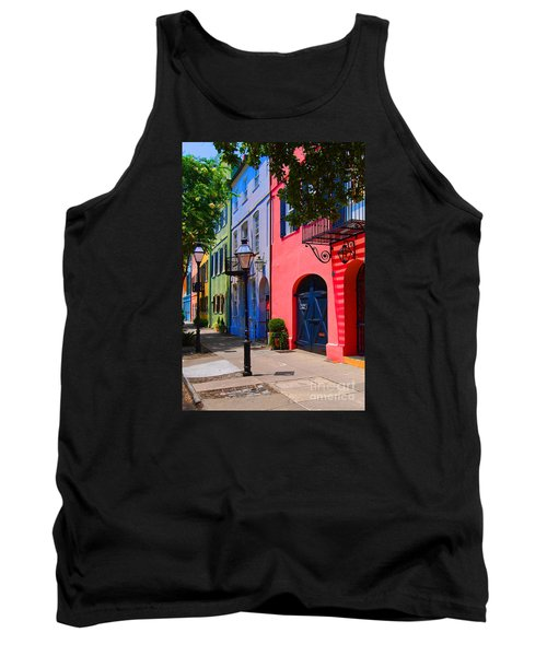 Rainbow Row Charleston Tank Top by Skip Willits
