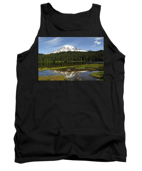 Tank Top featuring the photograph Rainier's Reflection by Tikvah's Hope