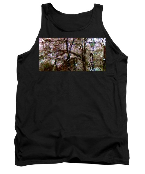 Tank Top featuring the photograph Rainscape - Rain On The Window Series 3 Abstract Photo by Marianne Dow