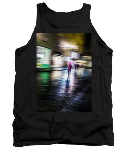 Tank Top featuring the photograph Rainy Streets by Alex Lapidus