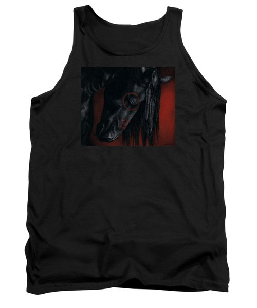 Tank Top featuring the painting Raven Wing by Pat Erickson