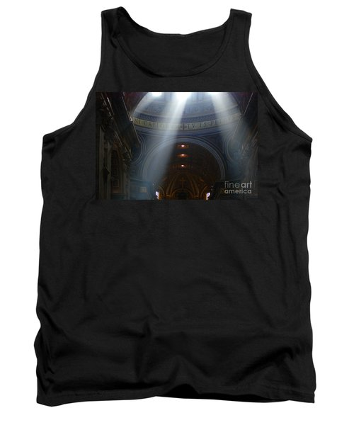 Rays Of Hope St. Peter's Basillica Italy  Tank Top by Bob Christopher