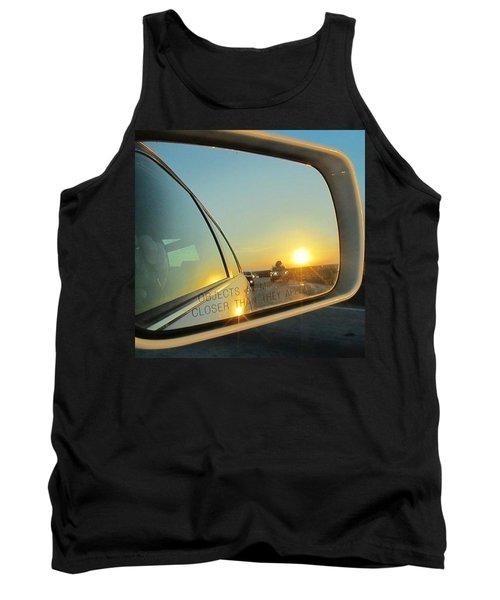 Rear View Sunset Tank Top by Deborah Lacoste