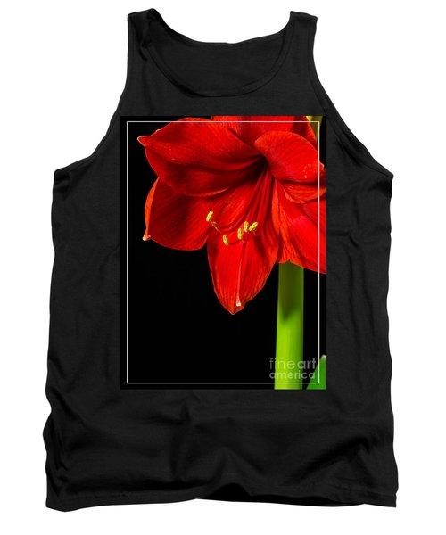 Red Amaryllis Flower Tank Top
