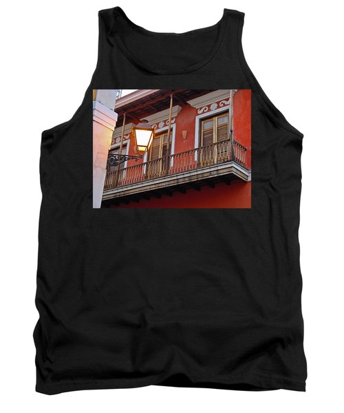 Red Balcony Tank Top