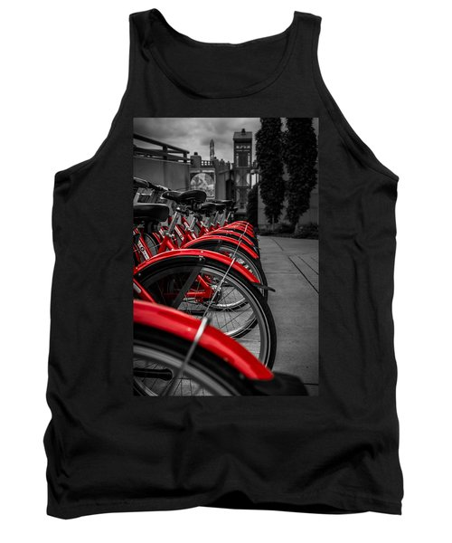 Red Bicycles Tank Top