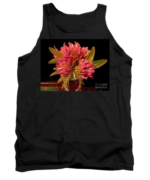 Red Clover 1 Tank Top by Martin Howard