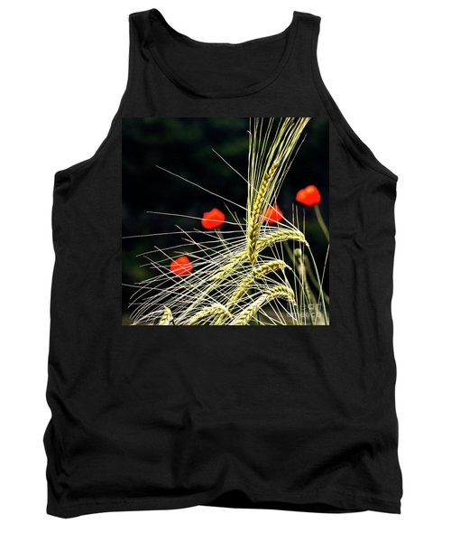 Red Corn Poppies Tank Top