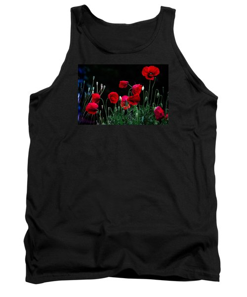 Red Dance Tank Top by Edgar Laureano