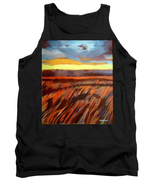 Tank Top featuring the painting Red Field by Helena Wierzbicki