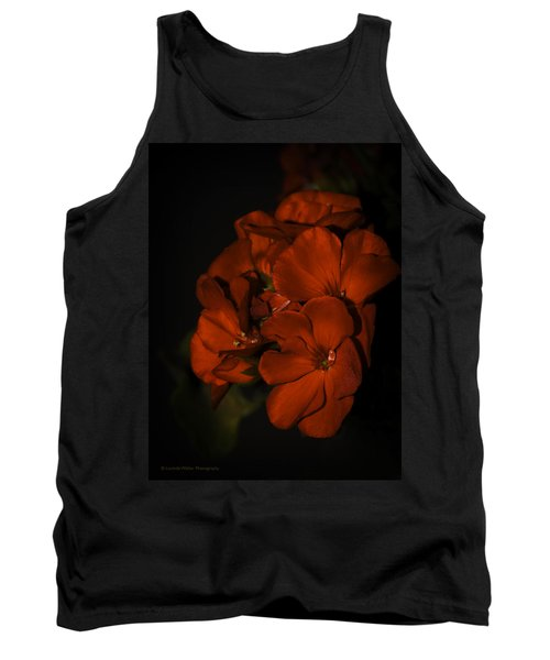 Tank Top featuring the photograph Red Flowers In Evening Light by Lucinda Walter