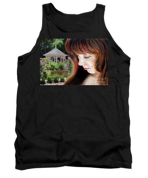Red Hair And Freckled Beauty II Altered Version Tank Top