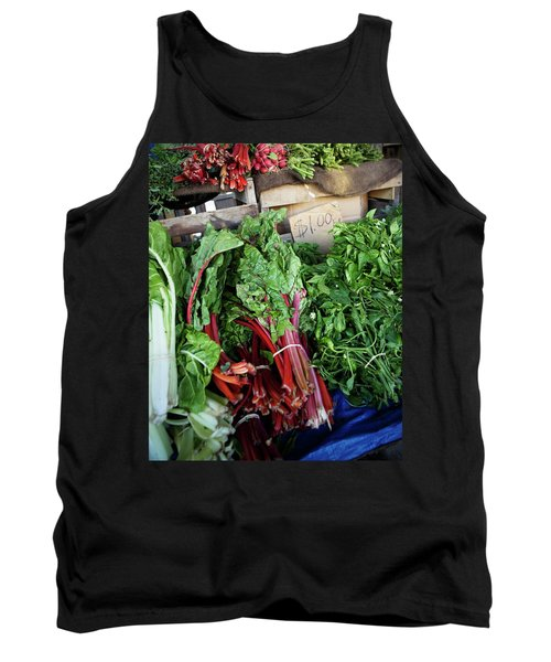 Red Kale And Other Fresh Vegetables Tank Top