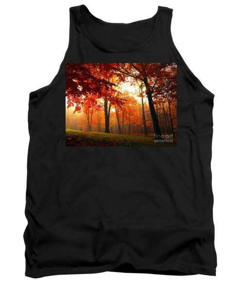 Red Maple Forest Tank Top by Terri Gostola