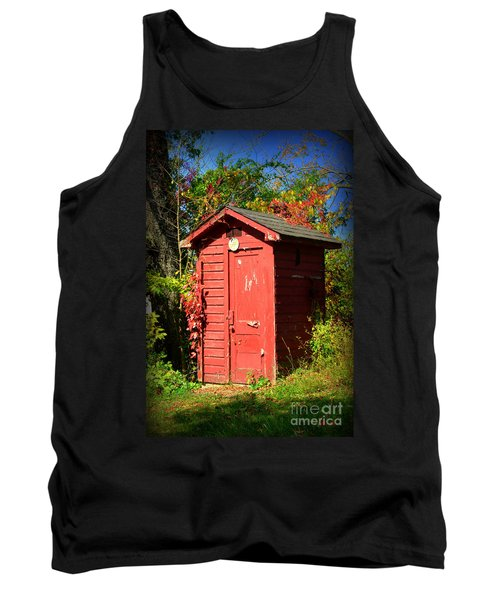 Red Outhouse Tank Top